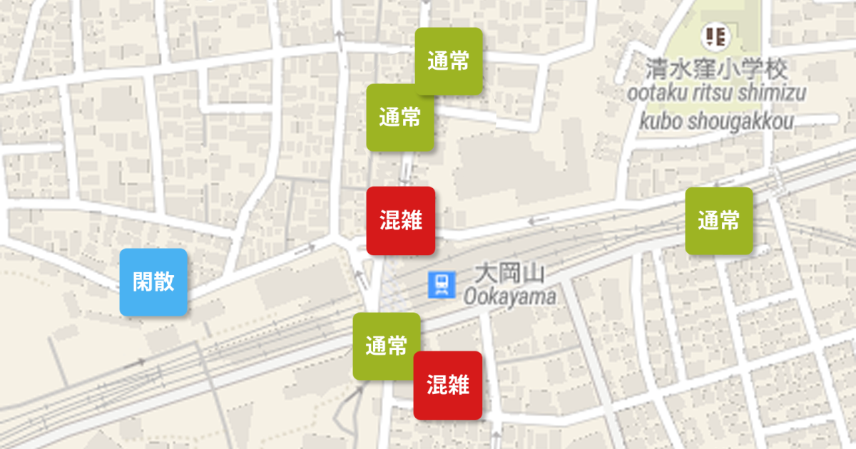お買物混雑マップ Powered by Beacon Bank